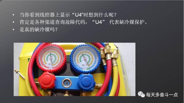 """格力五代多联机报""""U4""""故障代码怎么维修?"""