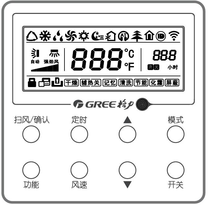 格力中央空调线控器XK111操作功能介绍!